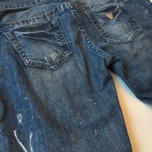 Guess Jeans - Distressed daredevil skinny jeans
